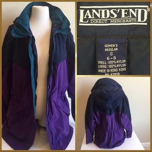 LANDS' END jacket with hood, women's size S (6-8)